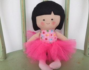 Handmade Asian Ballerina Doll in Pink