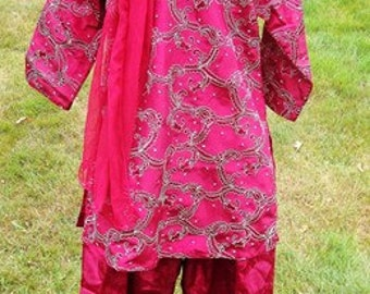 6 yr old Islamic clothes, pink salwar kameez for girls, girls pink tunic and pants set, Islamic clothing for kids, Little Muslimah clothes