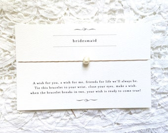Bridesmaid Wishing Bracelet