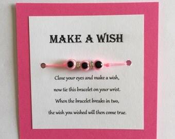 Pink Evil eye protection bracelet