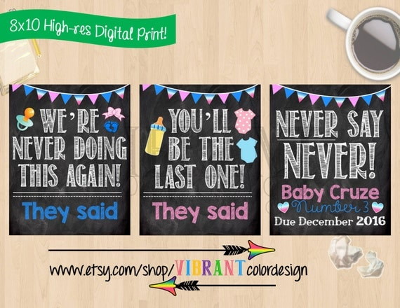 chalkboard baby announcements