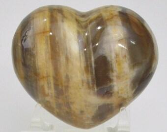 Petrified Wood Heart Carving