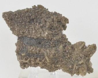Jamesonite on Calcite from Zacatecas, Mexico