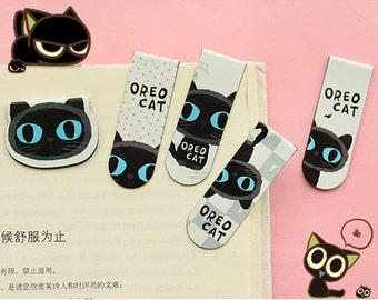 Magnet Book Marker, Black Cat Paper Clips, Book Marker, Cat Book Marker, Animals Book Marker