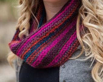 Neon Multicolor Knit Cowl