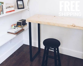 Office Desk, Wood Desk | Reclaimed Wood Desk, Computer desk | Industrial desk, Office decor | Free shipping