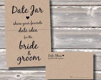 Date Night Jar (Cards & Sign)