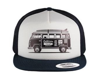 VW Surf Bus Baseball Cap, Trucker Hat