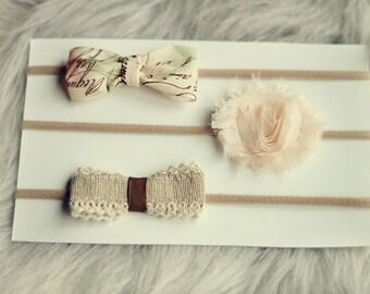 Girls Headband Set - 3 Beautiful Headbands