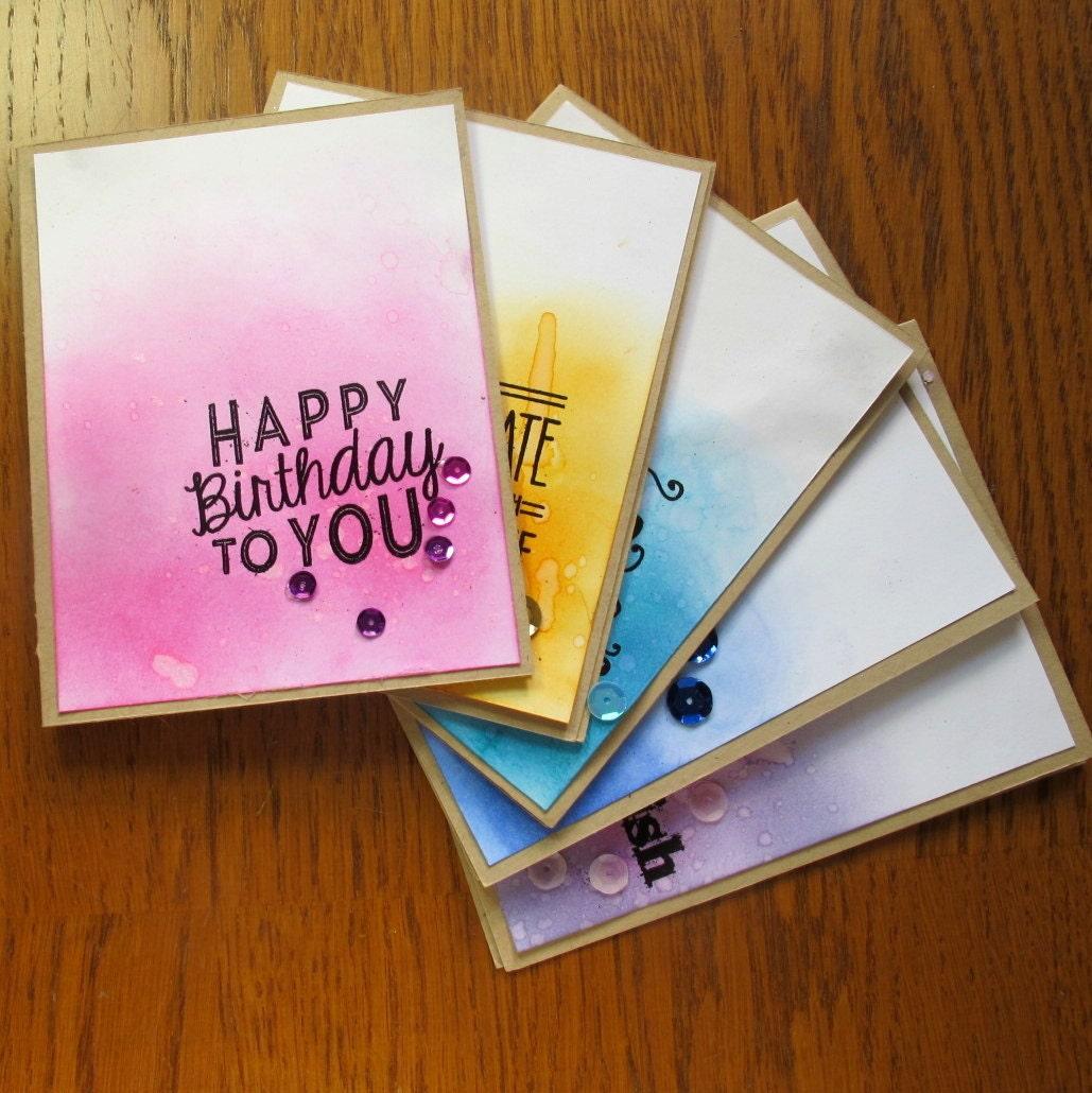 Set de tarjetas de cumpleaños hechas a mano tarjetas de