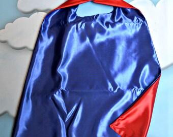 Cape. Plain Cape. Reversible Cape. Red and Blue Cape. Kids Cape.