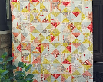 Quilt Top - Citrus Punch Throw Size