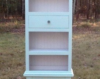 Bookshelf cabinet. One of a kind! Repurposed cabriole legs and lumber! Pick up or local delivery within upstate SC only. See policies.