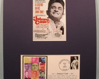 Country Western Great - Johnny Cash & Memorial Cover postmarked on his death