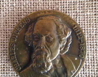 Charles Dickens - Bronze medallion - Commemorative