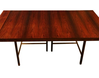 Exquisite Harvey Probber Brazilian Rosewood Dining Table with two extensions