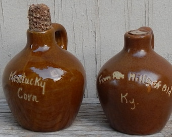 Pair of Vintage Miniature Ky Pottery Jugs!