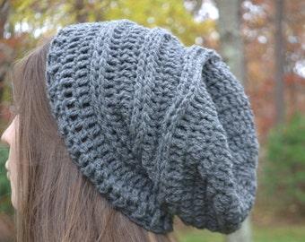 Boho Slouch Hat Beanie Wool