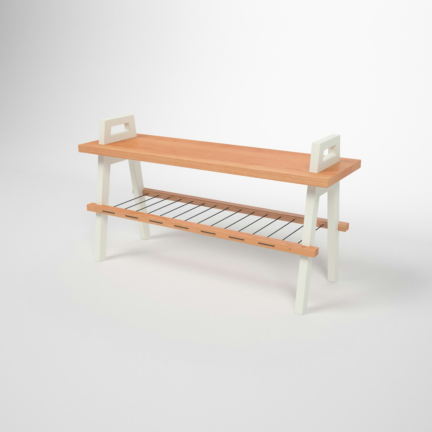 36 Entryway Hallway Storage Bench In Cherry