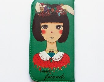Cute Kawaii Bunny Girl Purse wallet Japanese Style