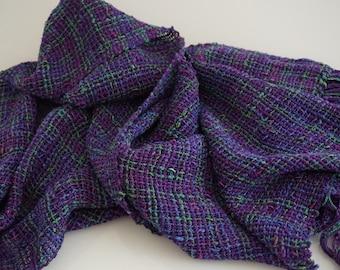 hand woven scarf, women's scarves, scarf, wrap, cotton scarf, ladies scarf, Shawl, summer scarf, Neck scarf, purple scarf, purple wrap