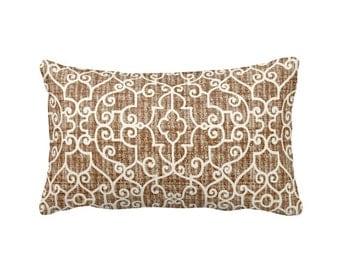 Decorative Throw Pillow Covers Brown Pillow Covers Lumbar Pillow Covers Trellis Pillows Lattice Pillows Decorative Pillows 12x24 Pillow