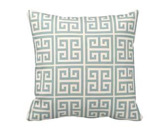 Blue Throw Pillow Cover Light Blue Pillow Covers Greek Key Pillows Baby Blue Pillows Decorative Pillows for Couch Toss Pillows Accent Pillow