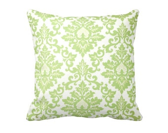 7 Sizes Available: Damask Pillow Cover Decorative Pillow Kiwi Green Pillow Cover Green Throw Pillow Cover Green Cushion Cover Euro Pillow