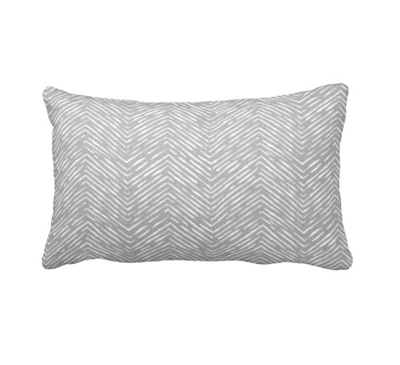 7 Sizes Available: Grey Throw Pillow Cover Gray Throw Pillow