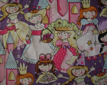 Princess Castle Cotton Fabric (1.75 yards)