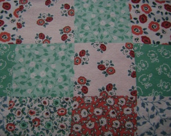 Floral Patch Flannel Fabric Sold by the Yard