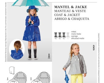 OUT of PRINT Burda Pattern 9495 Children's Coat and Jacket