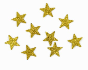 Gold Glitter Star Confetti - 100 Pieces - Twinkle, Twinkle Little Star Theme Party Decoration - 1st Birthday Table Scatter - Baby Shower