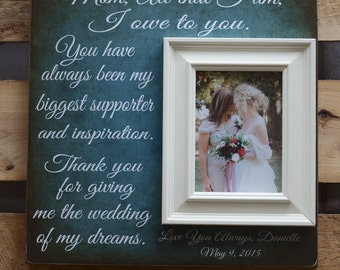 Mother of the Bride Gift, Personalized Picture Frame, Today a Bride, Parents Thank You Gift, Wedding Frame, Father of the Bride, 16x16