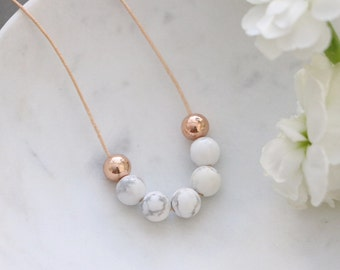 Marble + Rose Gold Necklace