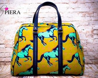 horse, handbag, purse, mustang, handmade, traveler, ready to ship