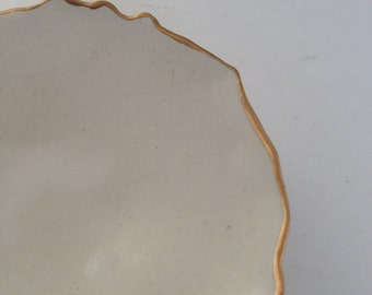 White & Gold Porcelain Ring Dish