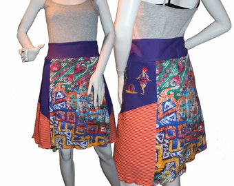 Knit T-Skirt (1X), Eco-Friendly Tshirt Skirts, Repurposed T-Shirt Skirt, Upcycled Skirt