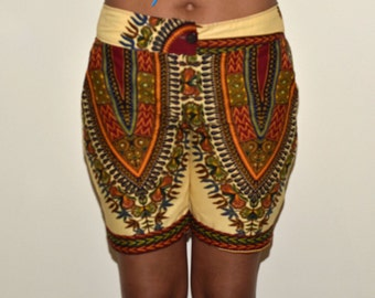 Dashiki shorts,Ankara shorts,skorts and shorts,colorful shorts, womens shorts, African print shorts, Kitenge shorts,Summer wear,buddha pants