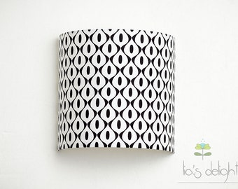 Wall lamp Lampshade geometric black and white
