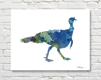 Wild Turkey - Art Print - Abstract Watercolor Painting - Wall Decor
