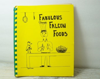 Vintage Community Cook Book Fabulous Falcon Foods Bradenton FL St Stevens Episcopal Recipe Book 1988 Drawings by 3rd Grade Walters Cookbooks