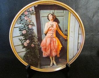 """Norman Rockwell """"Standing in the Doorway"""" Collectors Plate"""