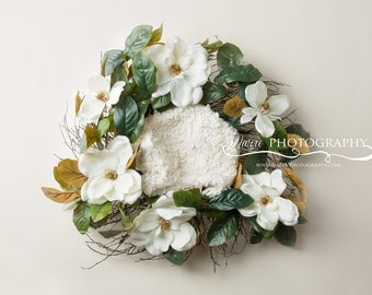 Instant Download newborn digital backdrop!! Spring and Summer  digital backdrop! newborn digital wreath! Easy to use