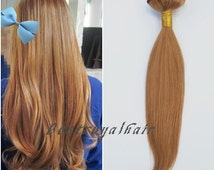 22 inches dark honey blonde color indian remy clip in hair extensions RHS112