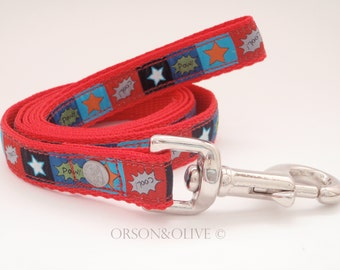 Stars & Statements (Red) Lead Leash  - Available in 3 sizes  (S, M, L)