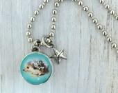 kid necklace, hedgehog charm, kids jewelry,  kids bracelet, #79, photo jewelry, interchangeable jewelry, kids accessories