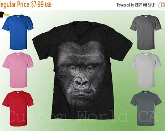 ON SALE TODAY Majestic Gorilla T SHirt - Monkey Gorilla Tee - Gorilla Shirt - Big in your Face Gorilla  - Licensed Tee