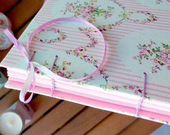 Pink floral - coptic Stitch