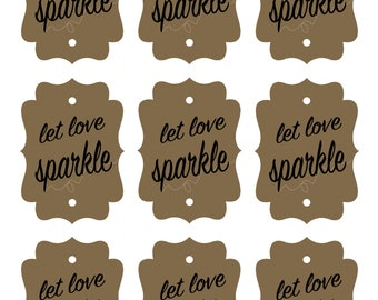 Let love sparkle Printable Sparkler Tag